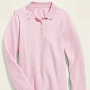 Old Navy Pink Uniform Long Sleeve Polo